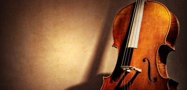 Cello background with copy space