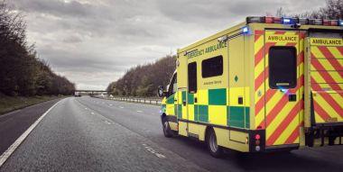 British ambulance car