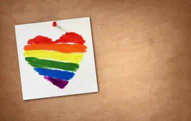 Gay flag rainbow heart background