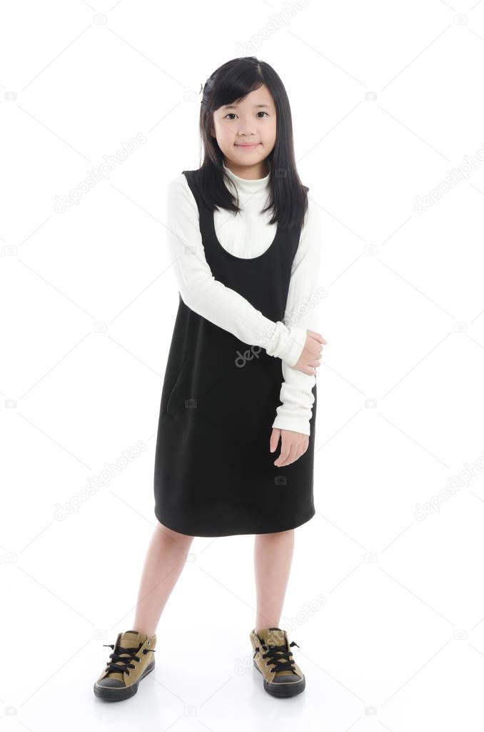 8bae962a2 Asian girl wearing black dress — Stock Photo © lufimorgan  129906880