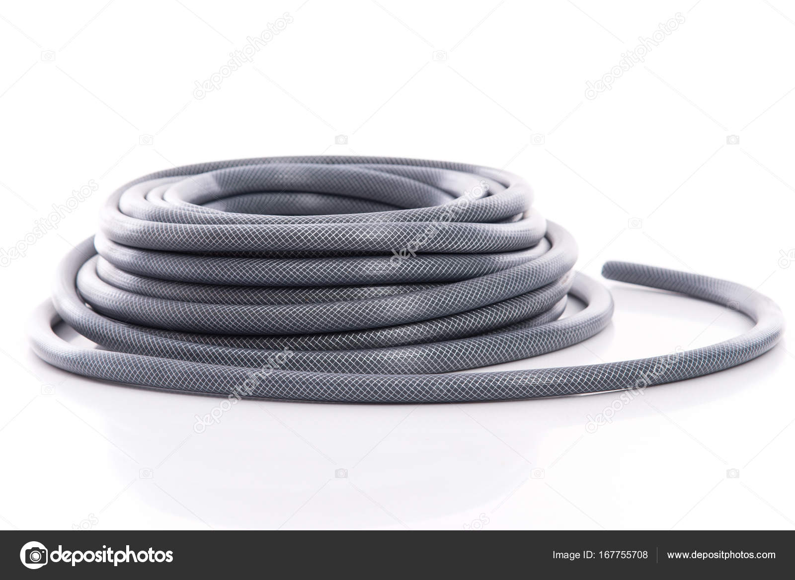 Curled Garden Hose Isolated On White Background U2014 Photo By Lufimorgan