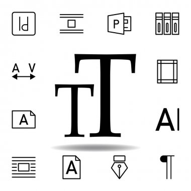 text sign icon. Can be used for web, logo, mobile app, UI, UX