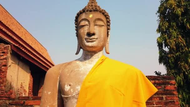 Buddhova socha v chrámu v Ayutthaya, Thajsko