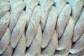 Bílá sada námořní lana, zblízka fotografie