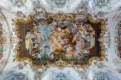 Innenraum der barocken Marienkirche, diessen, ammersee, Bayern, Deutschland