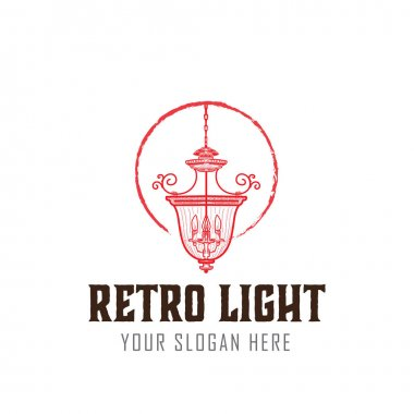 classic and retro lamp traditional logo designs