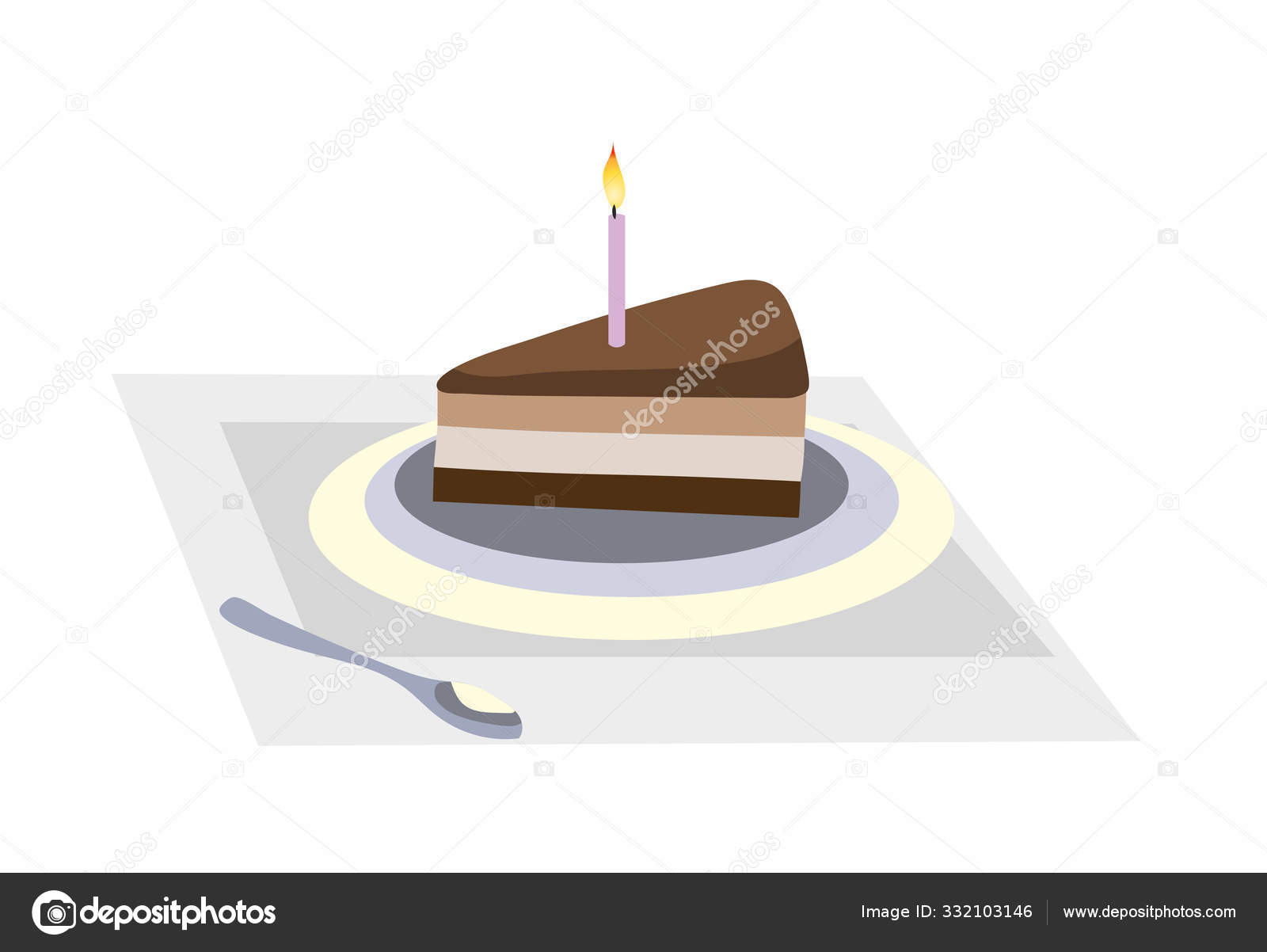 Cool Birthday Cake Candle Celebration Birthday Stock Vector Funny Birthday Cards Online Alyptdamsfinfo