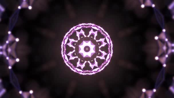 nahtlose Video-Hintergrundschleife bunte Elemente machen Blumen in kaleidoskopischen Effekten.