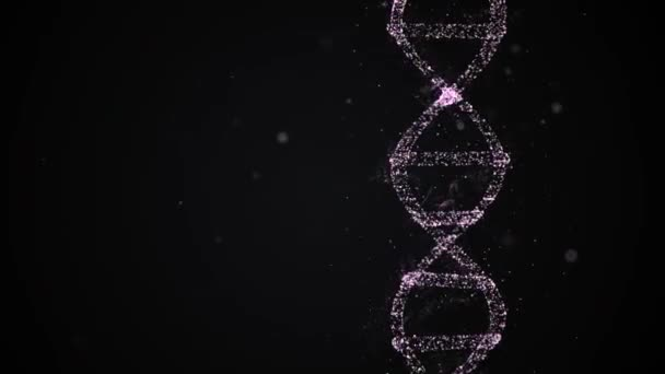 Rotating DNA high-detailed helix strand under examination.