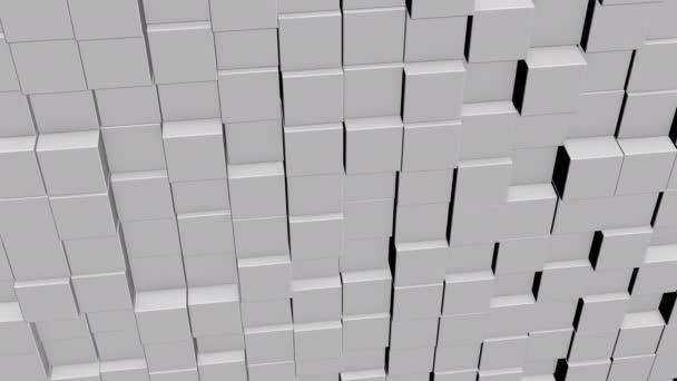 A mátrix fogalma. Bináris kód környezet formájában kocka fal információt belül, mozgó fel és le.