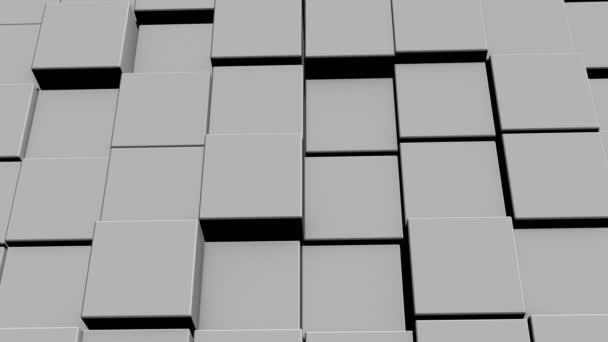 Kocka hálózat információval belül, mozgó és csatlakozó, alkotó kocka alakú fal.