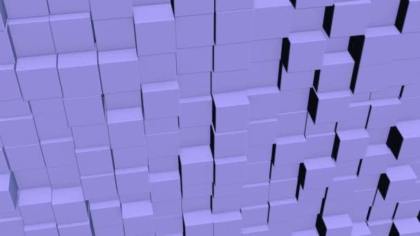 abstrakte quadratische geometrische Oberfläche mit minimalem grauen kubischen Gittermuster, in Bewegung.