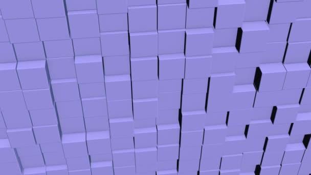 Konzept der Matrix. binärer Code-Umgebung in Form von Würfeln Wand mit Informationen im Inneren, nach oben und unten bewegen.