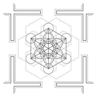 Vector mandala sacred geometry illustratio