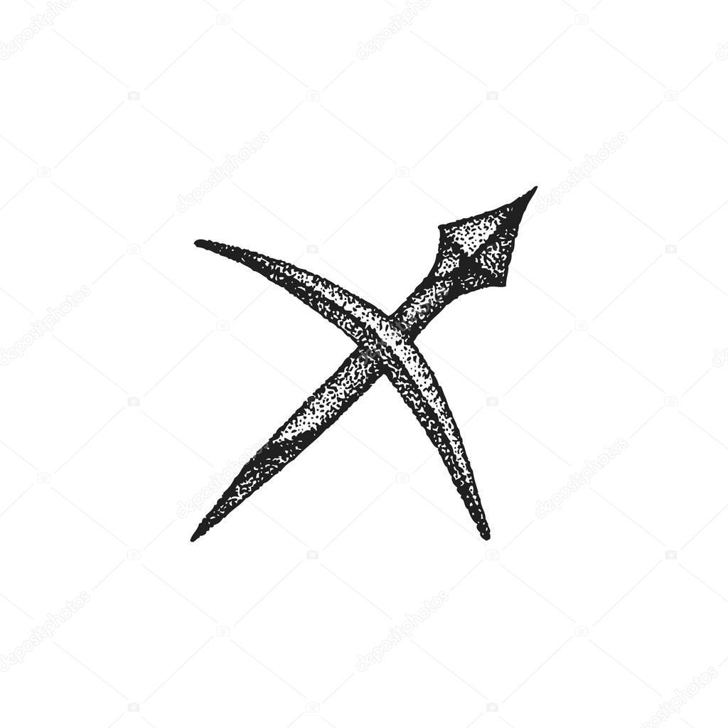 Tatuajes De Sagitario En La Mano Mano Dibujada Sagitario Zodiaco