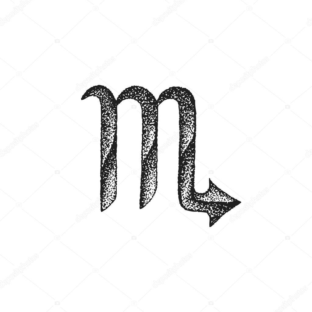 Ręcznie Rysowane Skorpion Znak Zodiaku Sig Grafika