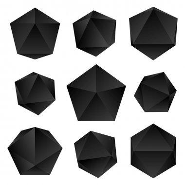 vector glossy platonic solids se