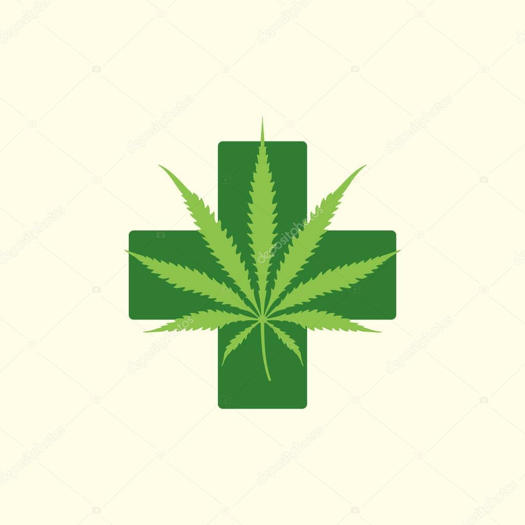 vector color cannabis marijuana illustration