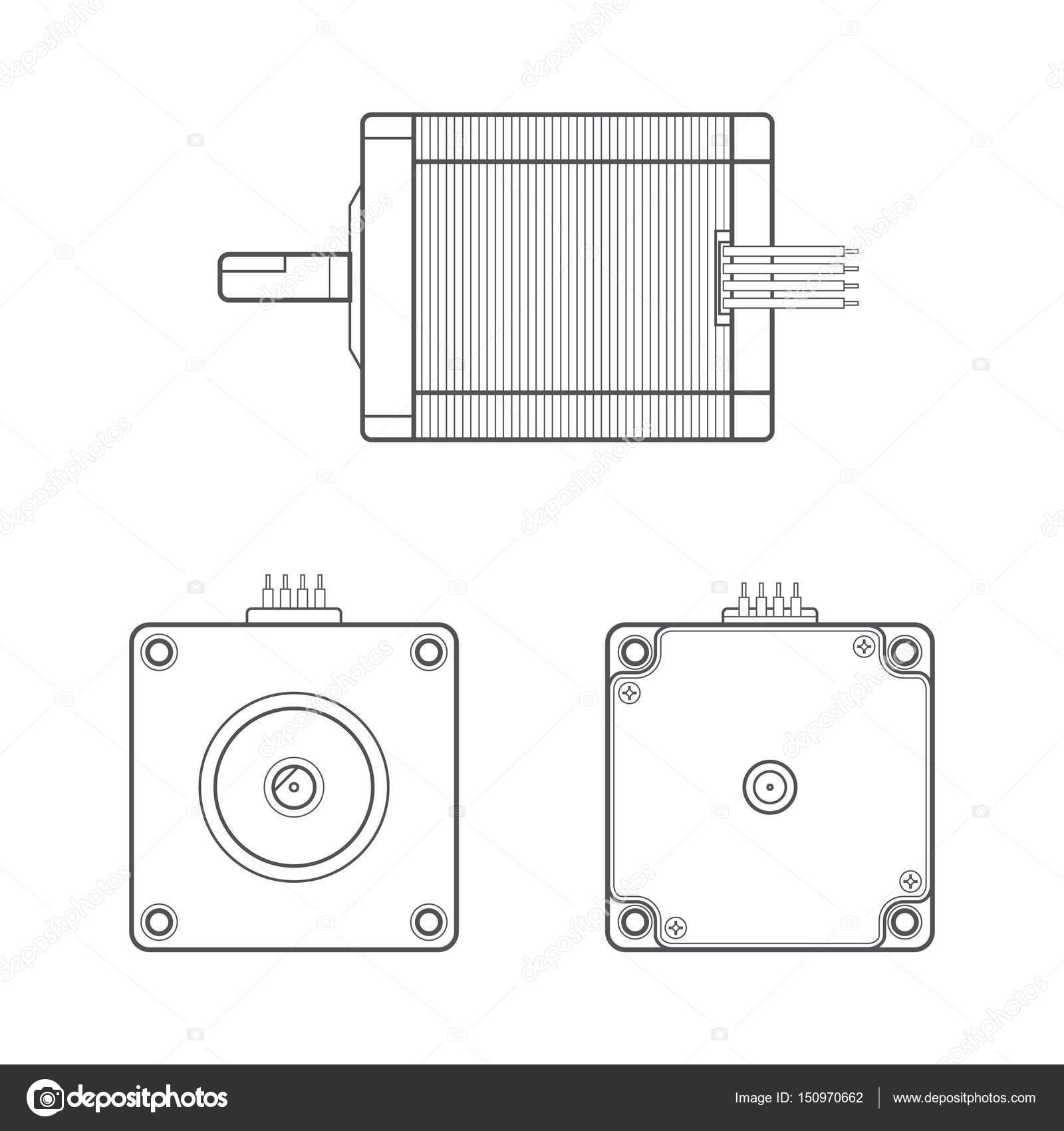 Vector 23alan de contorno de motor eltrico vetores de stock vector 23alan de contorno de motor eltrico vetores de stock ccuart Choice Image