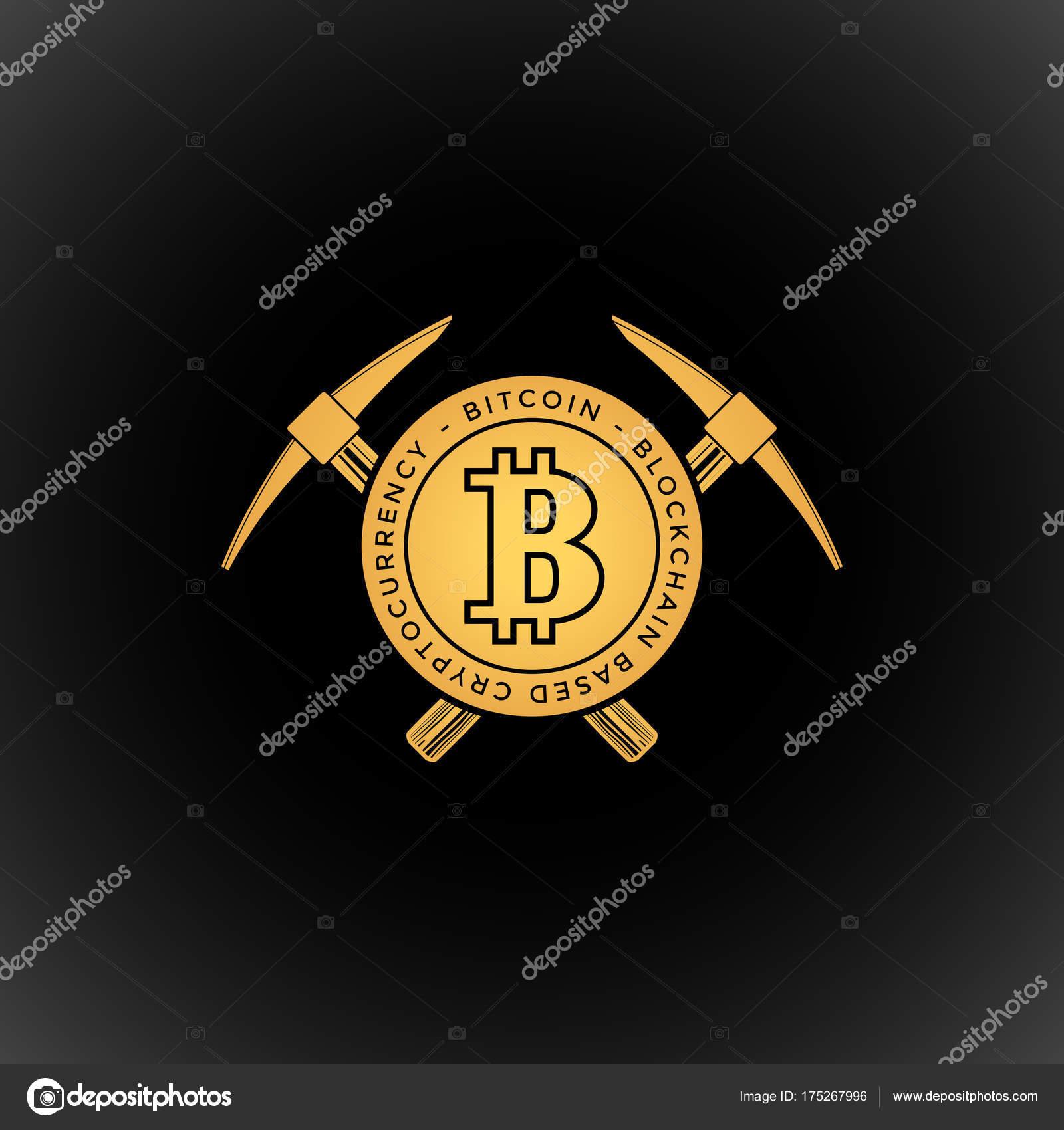 bitcoin 通貨マイニング ロゴ sig ストックベクター trikona 175267996