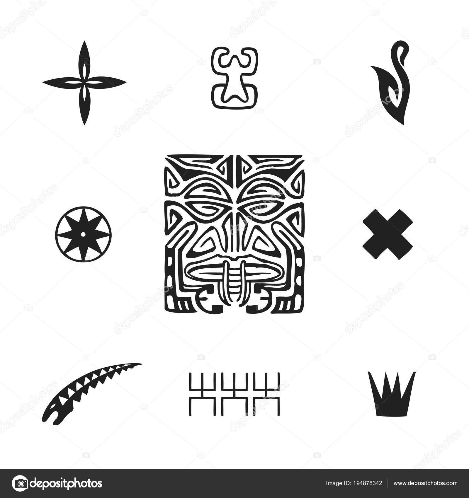 Polynesian Tattoo Indigenous Primitive Ar Stock Vector Trikona