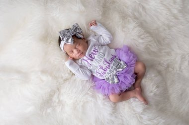 Newborn Baby Girl Wearing Tutu Bloomers