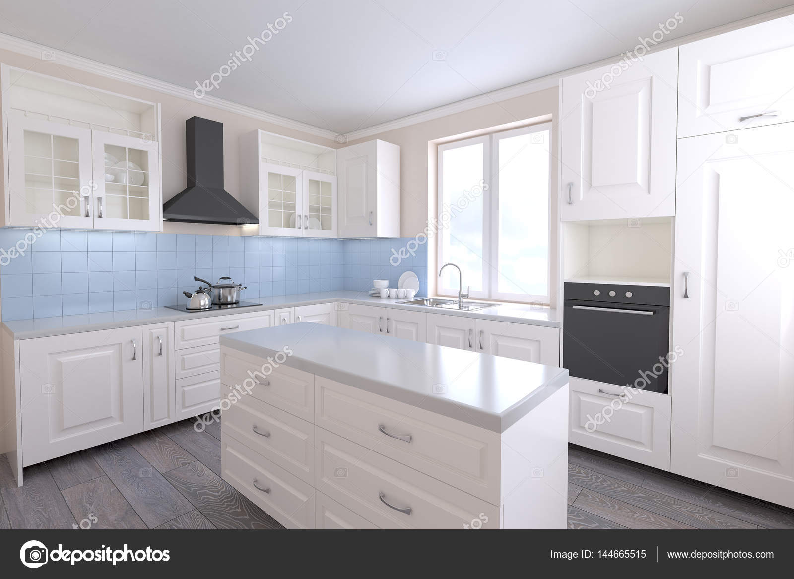 Luminosa cucina in stile provenzale — Foto Stock © Himchenko ...