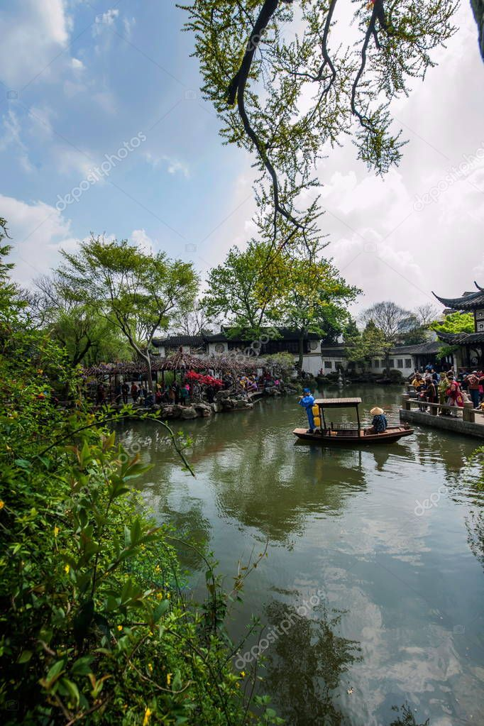 Suzhou classical garden to stay garden garden waterside Piper