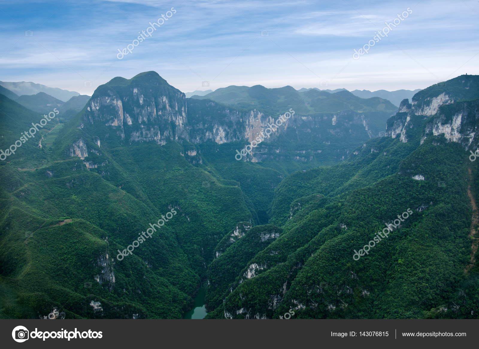 重慶市雲陽龍潭郷国立地質公園山...