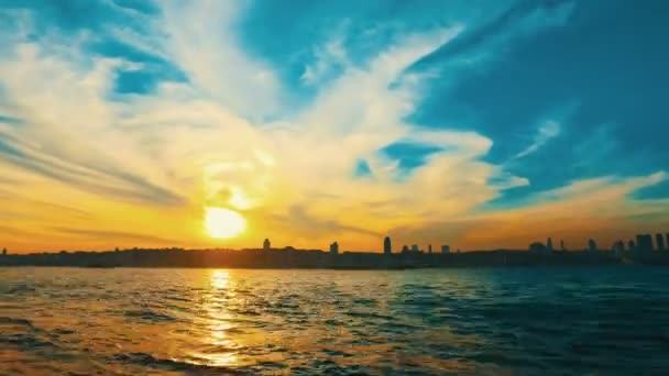 Time Lapse of Istanbul. Sunset in Turkey. High quality footage.