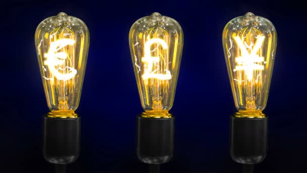 Lampy, které jsou symboly světových měn