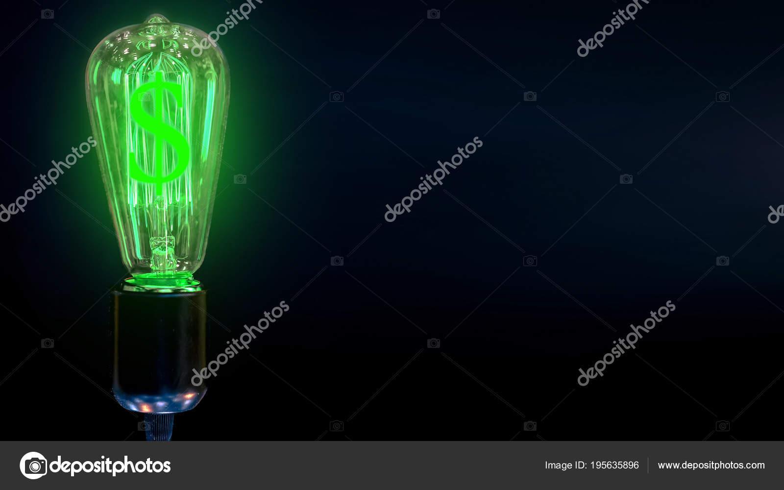 Concept Growth Dollar Exchange Rate Money Making Idea Light Bulb