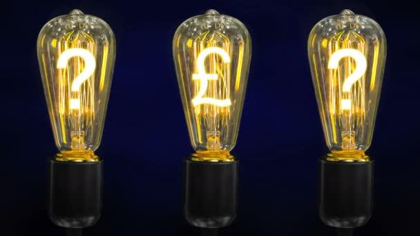 Árfolyam növekedése font fogalmának. Pénz teszi ötlet. Izzó szimbólum font sterling.