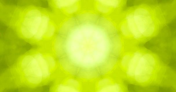 Přírodní světlo částice zelený pohyb pozadí bezešvé smyčka
