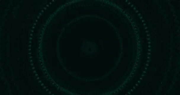 Cyber tunnel. Cyber space circle green background.4k concert visual performances, presentations, dance parties, music clips, projection mapping, nightclubs