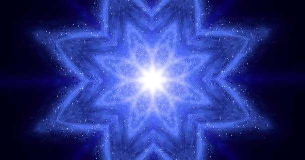 Zen energy balance concept. Meditation flower changes its geometric shape. Yoga, Buddhism, Oriental 4k seamless loop footage