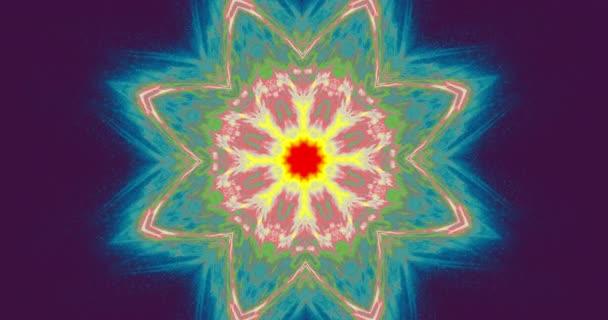 Čakra, meditace, chi, jóga. Vizualizace energie aury. VJ Lightning praskla aura pozadí. 4k Bezešvá smyčka.