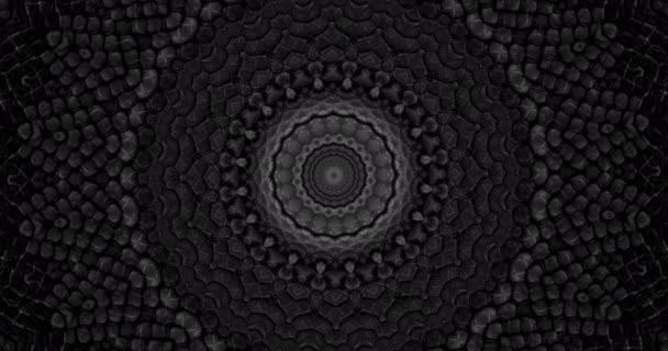 Parallax effect. Radial black snake skin background. Snake skin texture closeup. 4k zoom in video