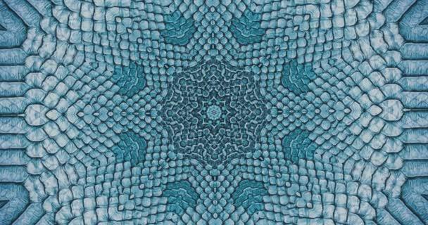 Paralaxový efekt. Radiální modré hadí kůže pozadí. Hadí kůže textura detailní up. 4k přiblížení záběru