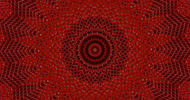 Parallax effect. Radial red snake skin background. Snake skin texture closeup. 4k zoom in footage