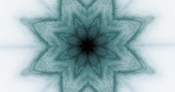 Uvolněte lotosový květ animace. Pozadí pro meditaci. Nirvana. Mystický vesmírný vzorec. 4k