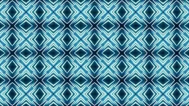 Pozadí pohyb s fraktálním designem kaleidoskop sekvence vzory, Disco spektrum světla koncertní spot žárovka, Abstraktní pohyb grafické pozadí, Bezproblémové rotující smyčka umění