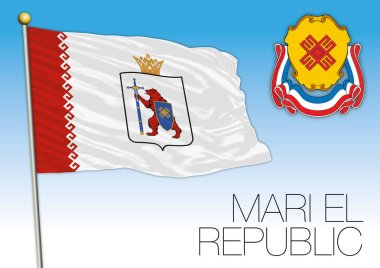 Mari El Republic flag, Russian Federation, Russia