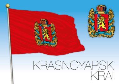 Krasnoyarsk Krai flag, Russian Federation, Russia