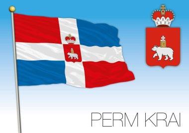Perm Krai flag, Russian Federation, Russia