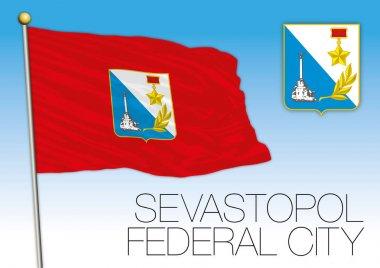 Sevastopol Federal City flag, Russian Federation, Russia