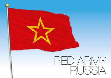 Russia, flag of the Red Army, symbol of the Red Star