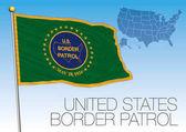 Fotografie Grenzpatrouille zeigt Flagge