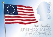 Fotografie betsy ross us historische Fahne 1777