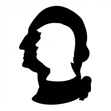 Donald Trump and George Washington silhouettes